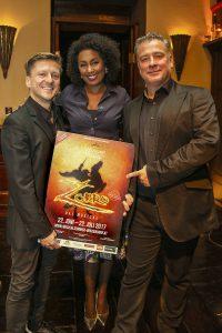 Regisseur Andreas Gergen mit den ersten beiden bekannt gegebenen Darstellern Ana Milva Gomez und Martin Berger Foto: Musicalsommer Winzendorf